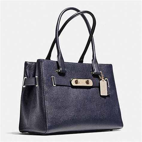 Coach Swagger 6675 2 An coach designer handbags coach swagger carryall in pebble