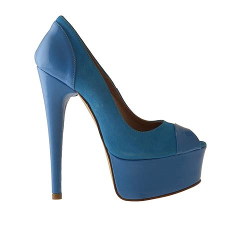 small or large opentoe with platform in light blue sude