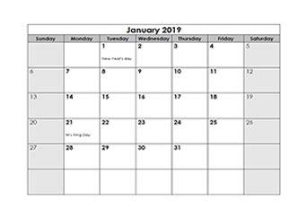 Free 2019 Monthly Calendar Download Printable Calendar Templates Microsoft Word Calendar Template 2019