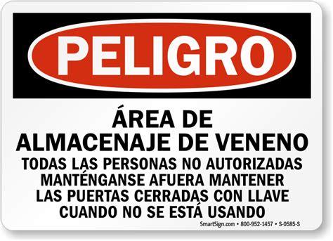 veneno de cristal spanish spanish danger poison storage area keep out sign online sku s 0585 s mysafetysign com