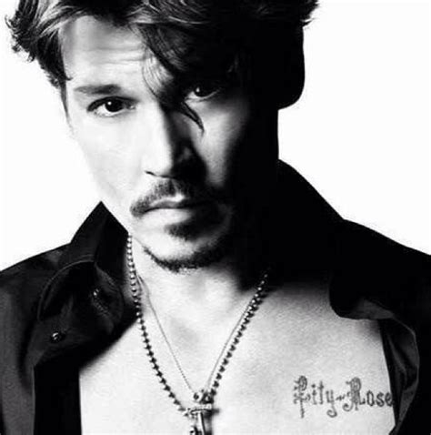 johnny depp chest tattoo complete list of johnny depp tattoos with meaning