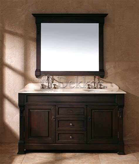 Bathroom Furniture Solid Wood Double Bathroom Set Bosco Mahogany Bathroom Furniture