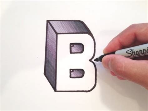Drawing B C by How To Draw The Letter B In 3d