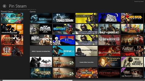 pin steam adds your steam games to windows 8s start