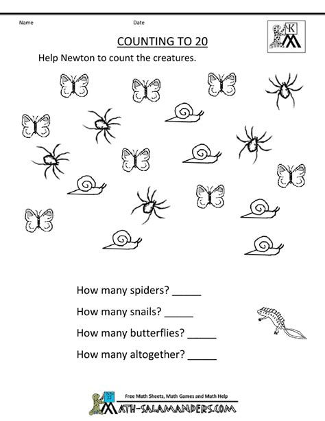 Math Worksheet Kindergarten Free Printable by Printable Kindergarten Math Worksheets