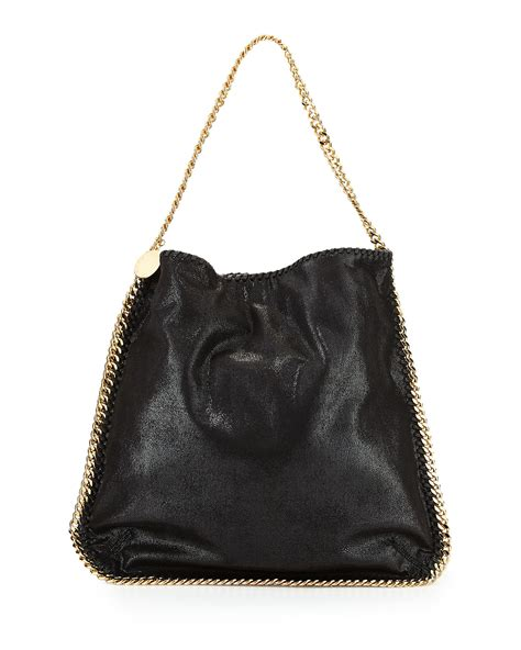 Stella Mccartney Bag stella mccartney faux leather hobo bag in black lyst