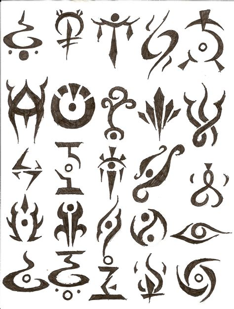 tattoo character designs symbol tattoos design design ideas