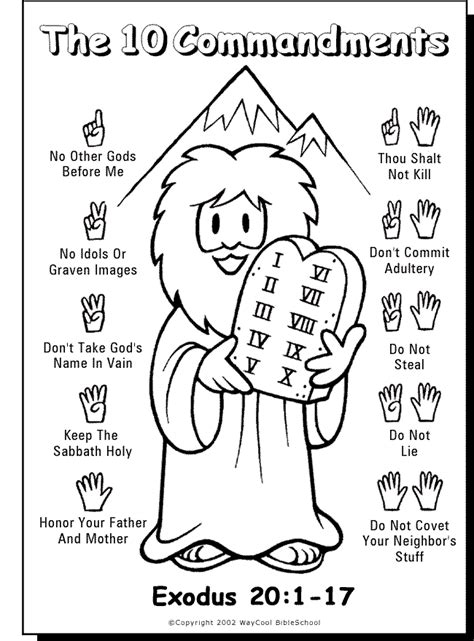 10 Commandment Coloring Pages ten commandments coloring pages coloring home