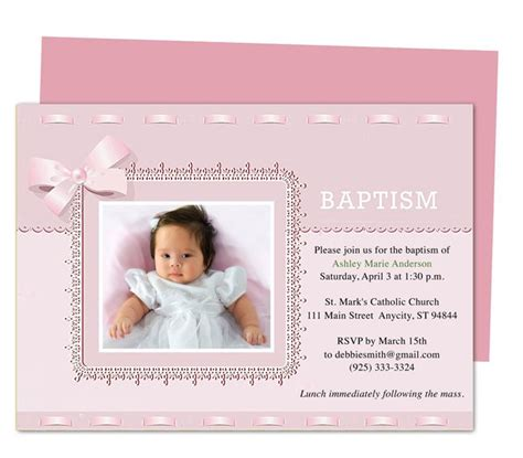 21 Best Printable Baby Baptism And Christening Invitations Images On Pinterest Baby Baptism Baptism Invitation Template