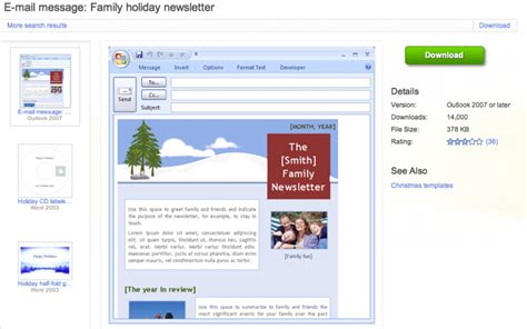 image gallery newsletter templates outlook