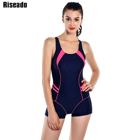 Riseado New 2017 Sports One Piece Swimsuits Brand Swimwear