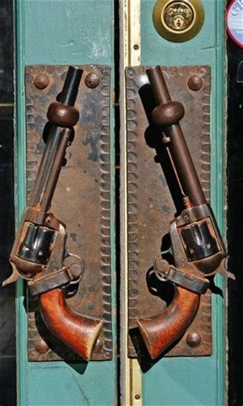 gun door handle wild west six shooter door handles by geraldine i might