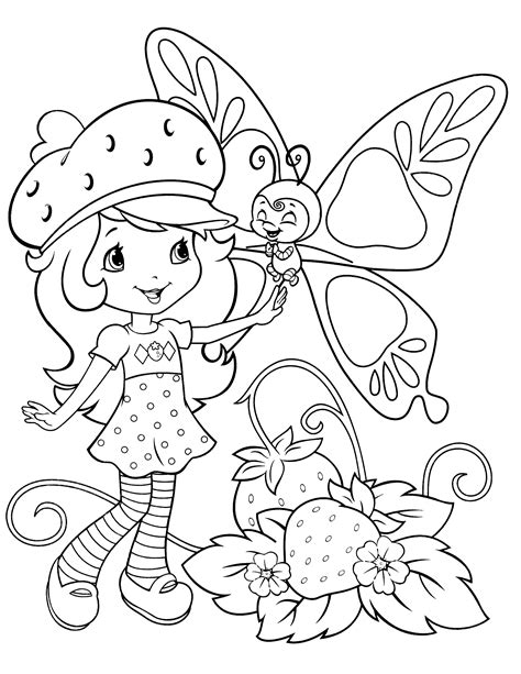 printable strawberry shortcake coloring pages coloring me