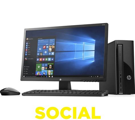 Monitor Komputer Hp hp slimline 411 a005na desktop pc 24 quot monitor bundle ebay