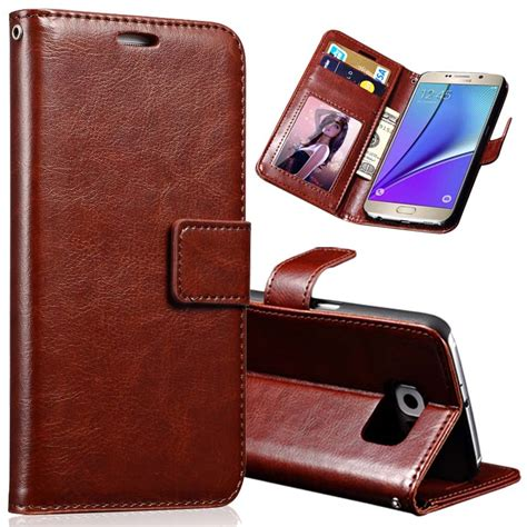 Samsung Galaxy Note 5 Flip Leather Wallet Cover pu leather for samsung galaxy note 5 phone coque flip wallet with card slot cover cases for