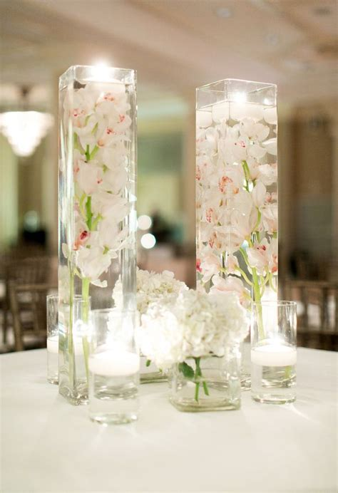rectangular vases for centerpieces 78 ideas about submerged flowers on floating candles submerged flower centerpieces