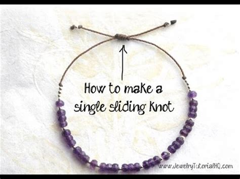 How to Make a Sliding Knot (single knot)   jewelry making tutorial   YouTube