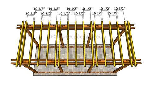 rafter spacing rafter spacing how to build a deck softwoods metal roof metal roof rafter spacing porch