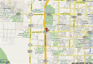 lake worth florida map map of inn west palm turnpike lake worth