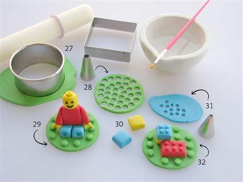 lego gumpaste tutorial fondant lego cake topper tutorial perfect for parties