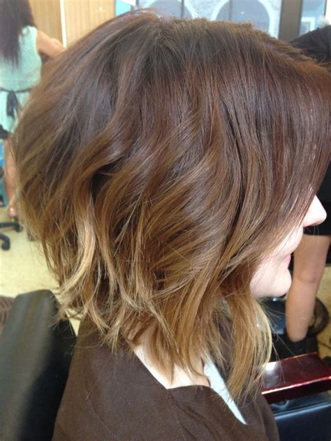 ambre hairstyle on short hair ombre softombre sombre bob the associated hair co