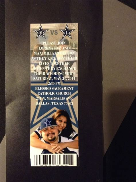 Wedding Invitations Dallas by Dallas Cowboys Ticket Wedding Invitation Dallas Cowboys