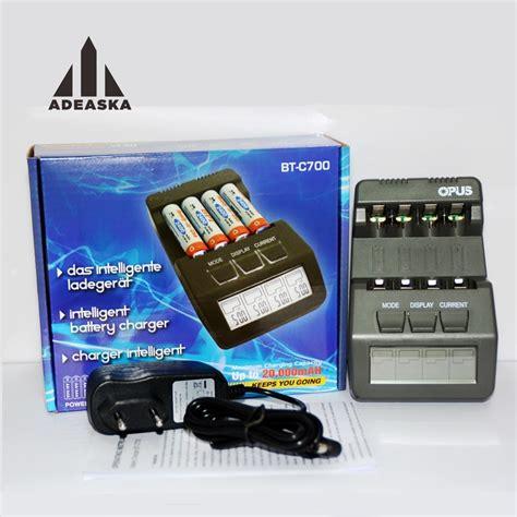 Opus Bt C700 Battery Charger Grey original opus bt c700 nicd nimh lcd digital intelligent