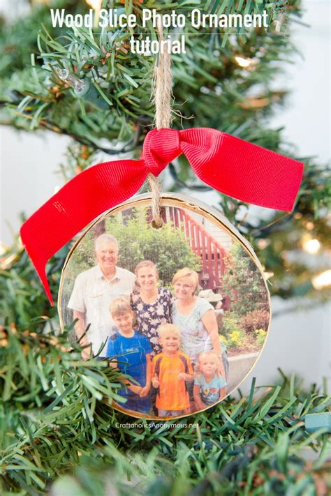 photo ornaments craftaholics anonymous 174 diy wood slice photo ornament
