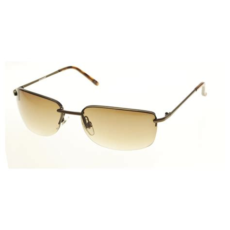 Semi Rimless Sunglasses dockers s goldtone semi rimless sunglasses