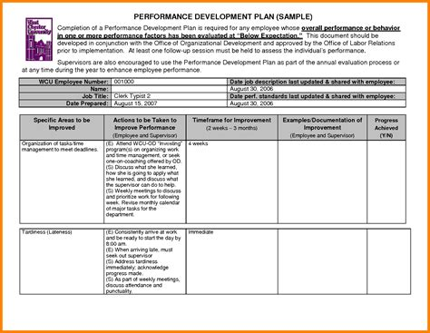 employee development plan sle employee development plan exles