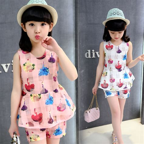 Fr Dress Giovany Kid Dress Anak 2017 summer big dress clothing set sleeveless two set princess dress 5 6 7