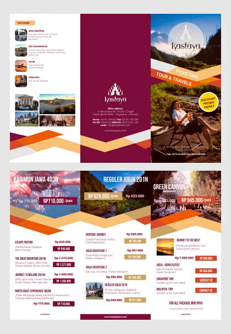 desain brosur video contoh desain brosur lipat tiga desain dan percetakan