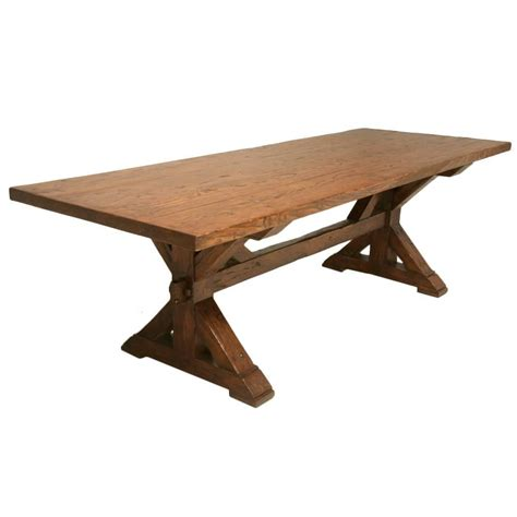Handmade French White Oak Farm Table For Sale At 1stdibs Handcrafted Dining Room Tables