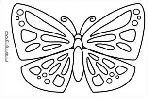 printable butterfly template coloring