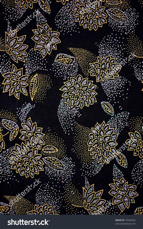 floral pattern batik exotic malaysian batik floral pattern print stock photo