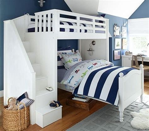 Barn Bunk Bed What A Great Guest Room Grandkids Room Yes I Am Planning Way Ahead Stair Loft Bed