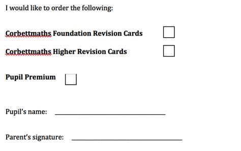Quizlet Parent Letter Letter For Parents Revision Cards Corbettmaths