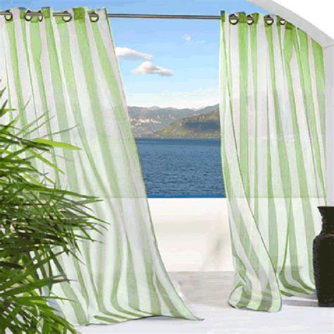 green outdoor curtains one way draw patio curtain