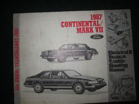 1987 lincoln continental and mark vii electrical troubleshooting manual original ebay purchase 1987 lincoln continental mark vii electrical wiring diagram service shop manual