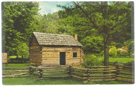 Lincoln Cabin Kentucky by Printed Verso Reads Quot Abraham Lincoln S Boyhood Home
