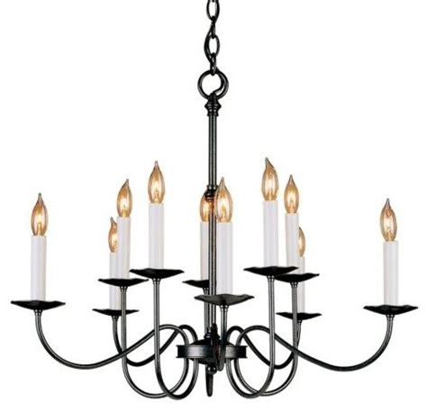 Simple But Chandeliers Simple Lines Ten Arm 2 Tier Chandelier By Hubbardton Forge