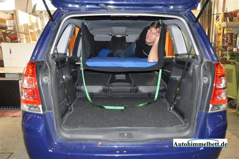 auto zum schlafen schlafen im opel zafira b bj 2005 2011 bequem im
