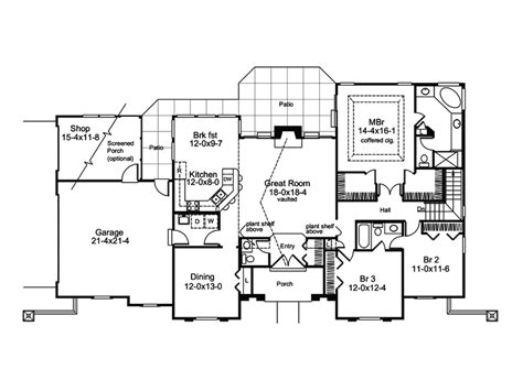 southwestern floor plans pomona park southwestern home plan 007d 0166 house plans