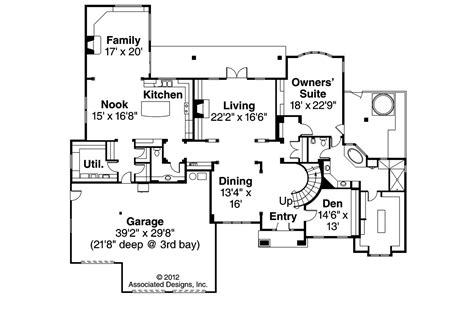 european home floor plans european house plans avalon 30 306 associated designs