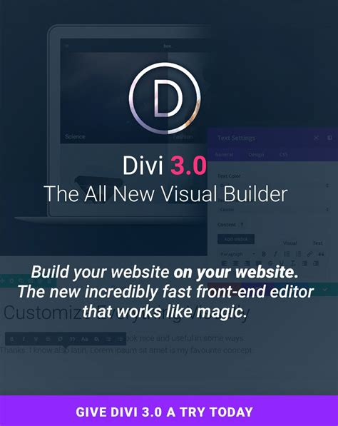 theme divi divi theme learn how to create a website ferdy korpershoek