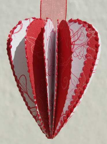 Handmade Hearts Crafts - valentines day ideas for decorating ceiling pendant