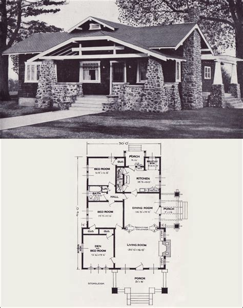 standard house plans the stoneleigh 1923 standard homes company house plans