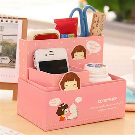 Pretty Desk Organizers Stationery Makeup Cosmetic Diy Organizer Paper Storage Box Desk E87 Ebay