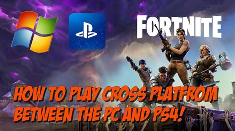how fortnite crossplay works how to play fortnite cross platform from pc to ps4