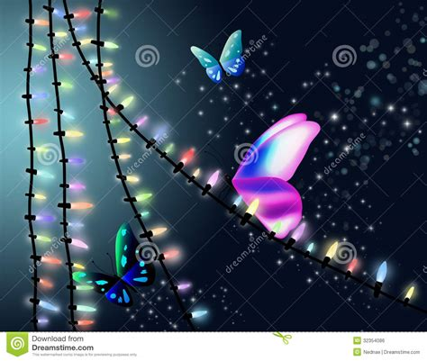 butterfly  christmas lights royalty  stock image image